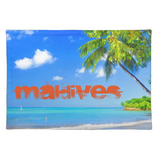 Tropische Insel in Malediven Tischset