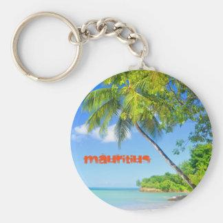 Tropische Insel in Mauritius Schlüsselanhänger
