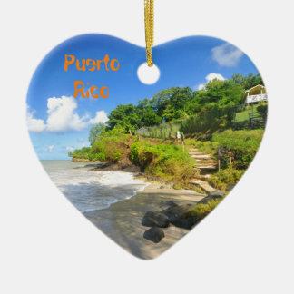 Tropische Insel in Puerto Rico Keramik Ornament