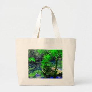 Tropische Insel-Lagune Jumbo Stoffbeutel