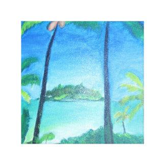 Tropische Insel-Malerei Leinwanddruck