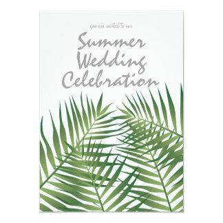 Tropische Insel-Sommer-Nachthochzeits-Einladung 12,7 X 17,8 Cm Einladungskarte