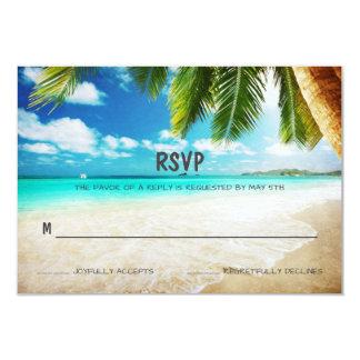 Tropische Insel-Strand-Hochzeit UAWG Karte