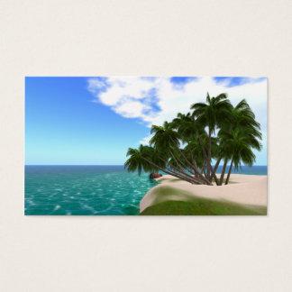 "Tropische Insel-Visitenkarten 3,5"" x2.0"" 100 Satz Visitenkarte"