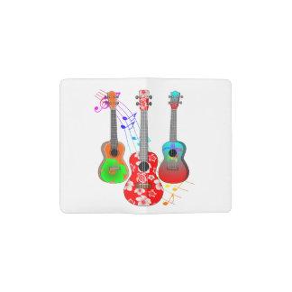 Tropische Inselukulele-Spieler-Musik Moleskine Taschennotizbuch