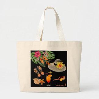 Tropische inspirierte Strand-Tasche Jumbo Stoffbeutel