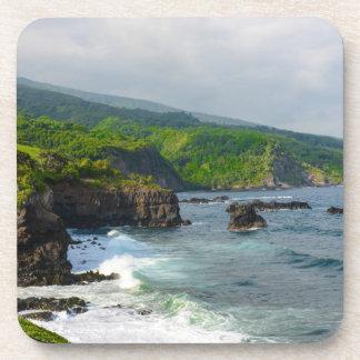 Tropische Klippen in Maui Hawaii Untersetzer