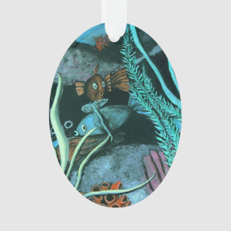 Tropische Korallenriff-Weihnachtsfisch-Meereswelt Ornament
