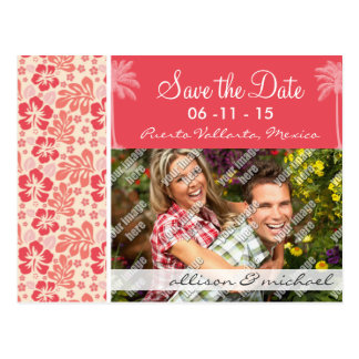 Tropische Lachse u. korallenrotes rosa Postkarte