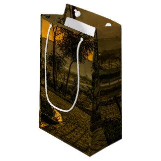 Tropische Landschaftssonnenuntergang-Szene Kleine Geschenktüte
