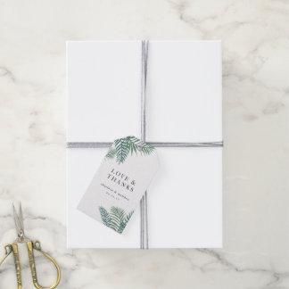 Tropische Laub-Gastgeschenk Hochzeit Geschenkanhänger