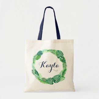 Tropische Leas-Taschen-Tasche. Personalisierte Tragetasche