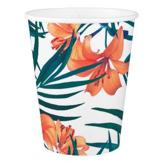 Tropische Lilien-Papierschalen Pappbecher