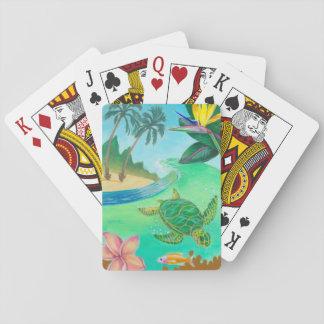 Tropische Meeresschildkröte-Spielkarten Spielkarten