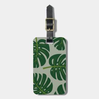 Tropische Monstera Palmblatt-Reise-Gepäckanhänger Kofferanhänger
