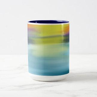 Tropische Ozeanwatercolor-Sonnenuntergang-Tasse Zweifarbige Tasse