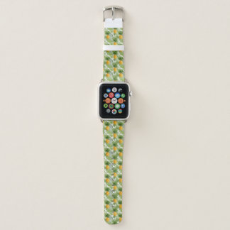 Tropische Palmblätter u. Ananas Apple Watch Armband