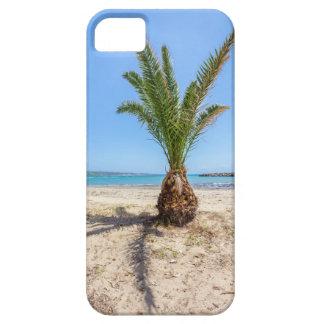 Tropische Palme auf sandigem Strand Schutzhülle Fürs iPhone 5