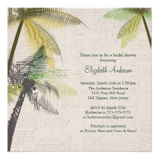 Tropische Palme-Brautparty-Einladung