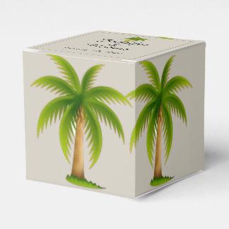 Tropische Palme-Hochzeit Geschenkschachtel
