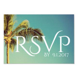 Tropische Palme-Hochzeit UAWG Karte