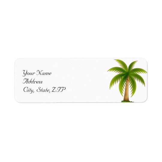 Tropische Palme Rückversand-Adressaufkleber