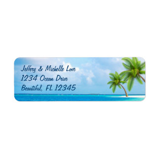 Tropische Palme-Strand-Adresse
