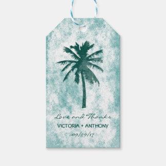 Tropische Palme-Strand-Hochzeit danken Ihnen Geschenkanhänger
