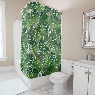 Tropische Palme verlassen Entwurf Duschvorhang