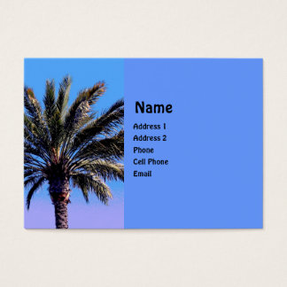 tropische Palme Visitenkarte