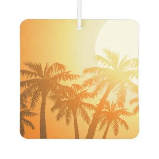 Tropische Palmen am Sonnenuntergang Autolufterfrischer