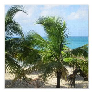 Tropische Palmen Quadratische 13,3 Cm Einladungskarte