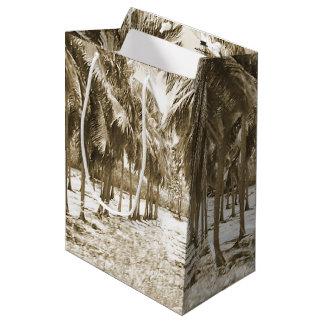 Tropische Palmen Vintag Mittlere Geschenktüte