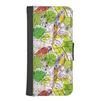 Tropische Papageien iPhone SE/5/5s Geldbeutel
