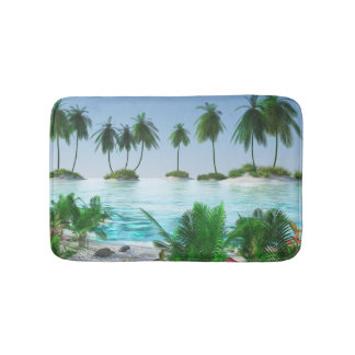 Tropische Paradies-Insel Badematte