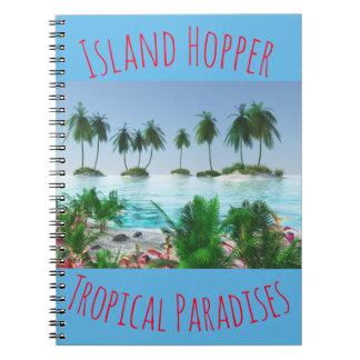 Tropische Paradies-Insel Spiral Notizblock