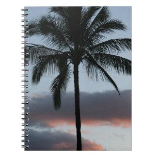 Tropische Paradies-Palme Notizblock