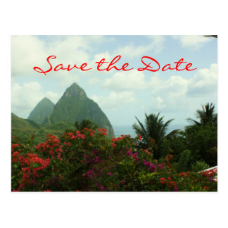 Tropische Paradies-Save the Date Postkarte