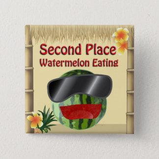 Tropische Party Tiki Hütten-essen 2. Quadratischer Button 5,1 Cm