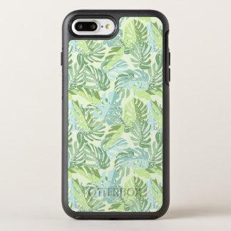 Tropische Pastellpalmblätter OtterBox Symmetry iPhone 8 Plus/7 Plus Hülle