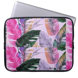 Tropische Pflanzen-Muster-Computer-Laptop-Hülse Laptopschutzhülle