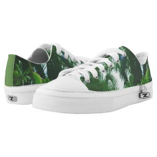Tropische Pflanzen-niedrige Spitzenschuhe Niedrig-geschnittene Sneaker