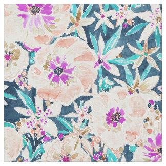 TROPISCHE PRACHT BlumenAquarell-Muster Stoff