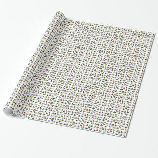 Tropische Regenbogen-Strudel-Schmetterlinge Einpackpapier