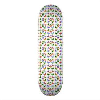 Tropische Regenbogen-Strudel-Schmetterlinge Skateboard Deck