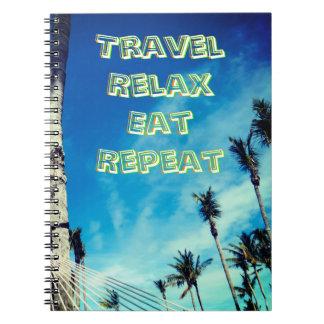Tropische Reise-Ansicht Notizblock