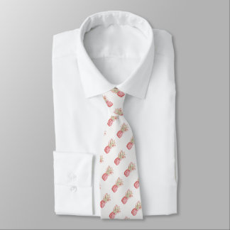 Tropische | rosa Ananas Krawatte