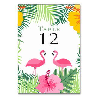 Tropische rosa Wedding Flamingo-Blumen Karte