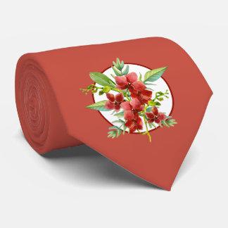 Tropische rote bedruckte krawatten