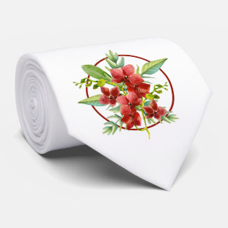 Tropische rote individuelle krawatte